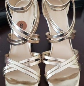 Marc Fisher Gold Strappy Heels
